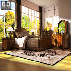 Ashley Leighton Poster Bedroom Set 3D Model
