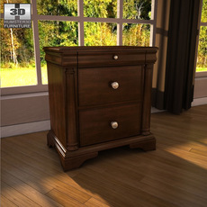 Ashley Leighton Nightstand 3D Model