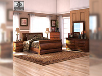Ashley Wilmington Sleigh Bedroom Set 3D Model