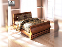 Ashley Wilmington Queen Sleigh Bed 3D Model