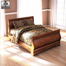 Ashley Wilmington Queen Sleigh Bed 3D Model