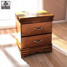Ashley Wilmington Nightstand 3D Model