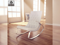 Raymondo Rocking Chair 3D Model