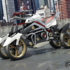 Yamaha Tesseract 2.0 3D Model