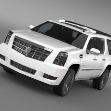 Cadillac Escalade 2011 Platinum ESV 3D Model