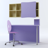 07 19 30 656 c3dm violetta heart chair   desk   shelving 2 4