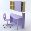 07 19 30 746 c3dm violetta heart chair   desk   shelving 3 4