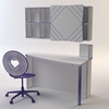 07 19 31 759 c3dm violetta heart chair   desk   shelving wireframe 4