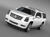 Cadillac Escalade 2013 ESV 3D Model