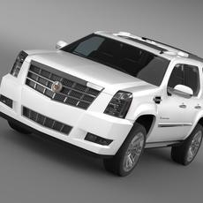 Cadillac Escalade 2013 Hybrid 3D Model