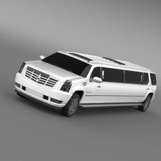 Cadillac Escalade Limo 3D Model