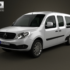 Mercedes-Benz Citan Crew Bus 2012 3D Model