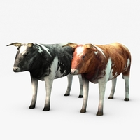 Low poly cow 3D Model