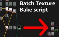 1-Click Texture Batch Bake for Maya for Maya 1.0.0 (maya script)
