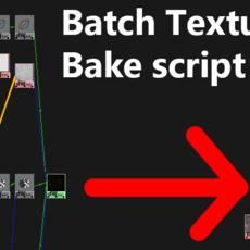 1-Click Texture Batch Bake for Maya 1.0.0 for Maya (maya script)
