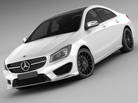 Mercedes CLA AMG package 3D Model