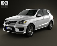 Mercedes-Benz ML-class AMG (W166) 2012 3D Model