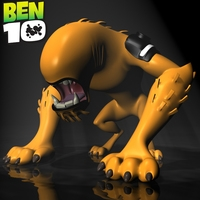 BEN 10-WildMutt RIGGED 3D Model