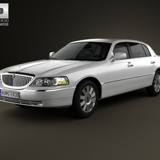 Lincoln Town Car L 2011 3D Model