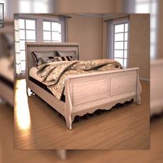 Ashley Silverglade Queen Sleigh Bed 3D Model