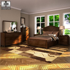 Ashley Ashlyn Sleigh Bedroom Set 3D Model