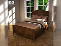 Ashley Ashlyn Queen Sleigh Bed 3D Model