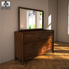 Ashley Ashlyn Dresser & Mirror 3D Model