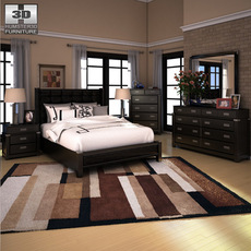 Ashley Diana Platform Bedroom Set 3D Model
