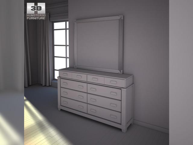 Ashley diana platform bedroom set 3d model for Diana bedroom set