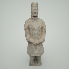 Terracotta Army Warrior 3D Model