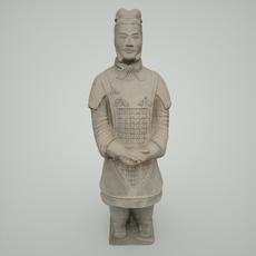Terracotta Army Warrior 3D Model