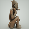 07 27 26 958 mark florquin dogon smoking man 3d model render right 4