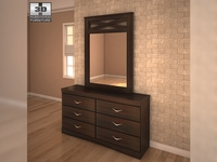 Ashley X-cess Dresser & Mirror 3D Model