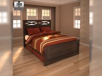 Ashley X-cess Queen Panel Bed  3D Model