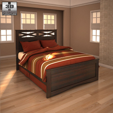 Ashley X-cess Queen Panel Bed  3D Model