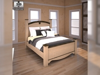 Ashley Olivia Bay Queen Poster Bed 3D Model