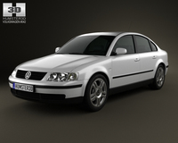 Volkswagen Passat B5 sedan 1997 3D Model