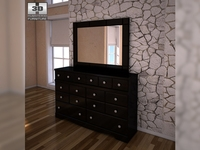 Ashley Shay Dresser & Mirror 3D Model