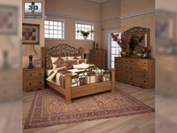 Ashley Rosalie Poster Bedroom Set 3D Model