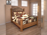 Ashley Rosalie Queen Poster Bed 3D Model