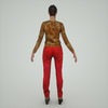 07 28 58 64 mark florquin girl 3d render back tiger top red pants 4