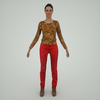 07 28 58 676 mark florquin girl 3d render front tiger top red pants 4
