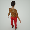 07 28 59 717 mark florquin girl 3d render rear tiger top red pants top view 4