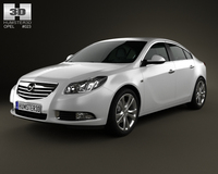 Opel Insignia hatchback 2012 3D Model