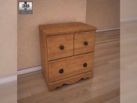 Ashley Rosalie Nightstand 3D Model