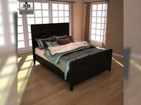 Ashley Carlyle Queen Upholstered Bed 3D Model