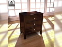 Ashley Carlyle Nightstand 3D Model