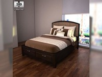 Ashley Emory Panel Bed 3D Model