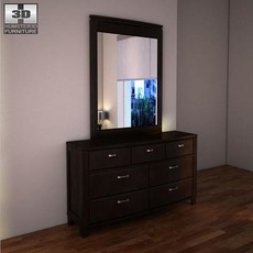 Ashley Emory Dresser & Mirror 3D Model