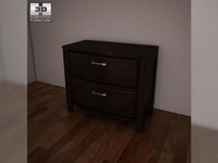Ashley Emory Nightstand 3D Model